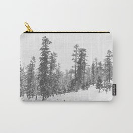 Sledding // Snowday Winter Sled Hill Black and White Landscape Photography Ski Vibes Carry-All Pouch