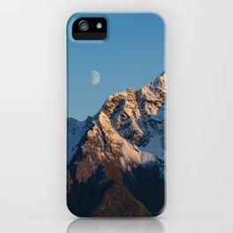 Moon Over Pioneer Peak I - Palmer, Alaska iPhone Case