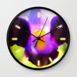 Beautiful Purple Flower Wall Clock