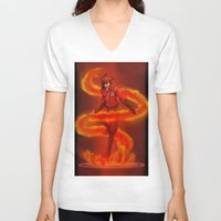vocaloid V-neck T-shirts featuring VOCALOID Kai by Witchy