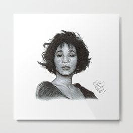 Whitney - Ballpoint Pen Illustration Metal Print