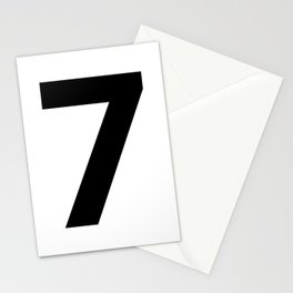 Number 7 (Black & White) Stationery Cards