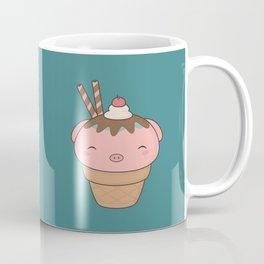Kawaii Cute Pig Ice Cream Cone Coffee Mug