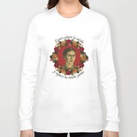 frida Long Sleeve T-shirts featuring FRIDA by badOdds