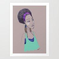 Africaine 3 Art Print