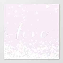 Delicate Love Rose Pink Glitter Design Canvas Print