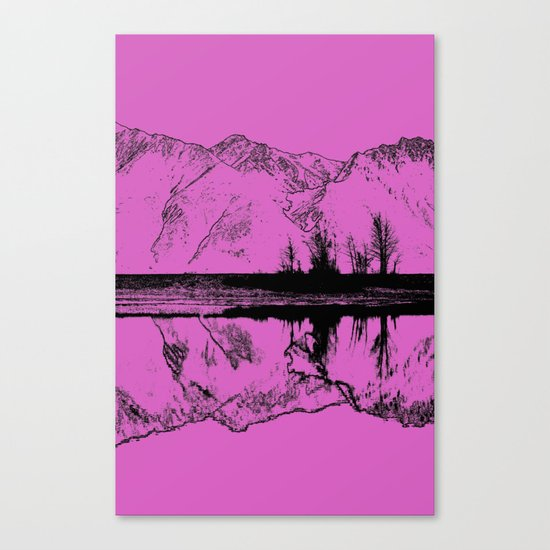 Knik River Mts. Pop Art - 5 Canvas Print
