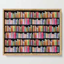 Christmas Antique Book Library for Bibliophile.bookworm, book lover, library, teachers , students, Serving Tray