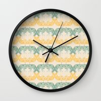 foxes Wall Clocks featuring Foxes by Akwaflorell