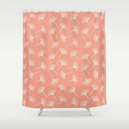 Pink Ginkgo Shower Curtain
