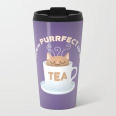 You're my Purrfect Cup of Tea Cat Metal Travel Mug