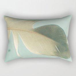 Grey Feather Rectangular Pillow