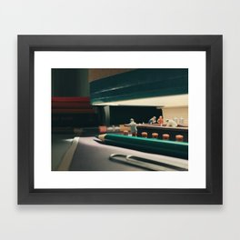 Nighthawks Framed Art Print