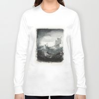 ship Long Sleeve T-shirts featuring Ship by Sylinter