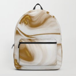 Gold Milky Swirl Marble Backpack