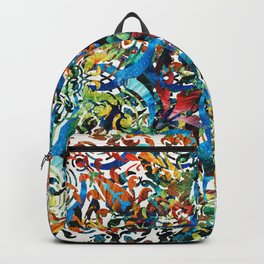 Bold Pattern Art - Color Fusion Design 8 By Sharon Cummings Backpack