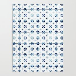 Azulejo I - Portuguese hand painted tiles Poster