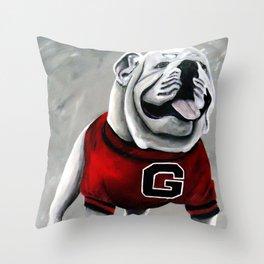 UGA Georgia Bulldogs Mascot Throw Pillow