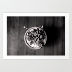 Black and White Succulent Art Print