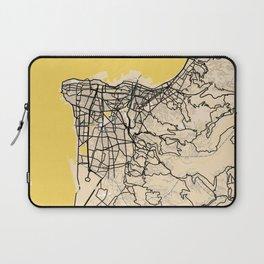 Beirut Yellow City Map Laptop Sleeve
