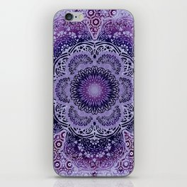 Lilac Boho Brocade Mandala iPhone Skin