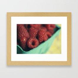 Rasberries Framed Art Print