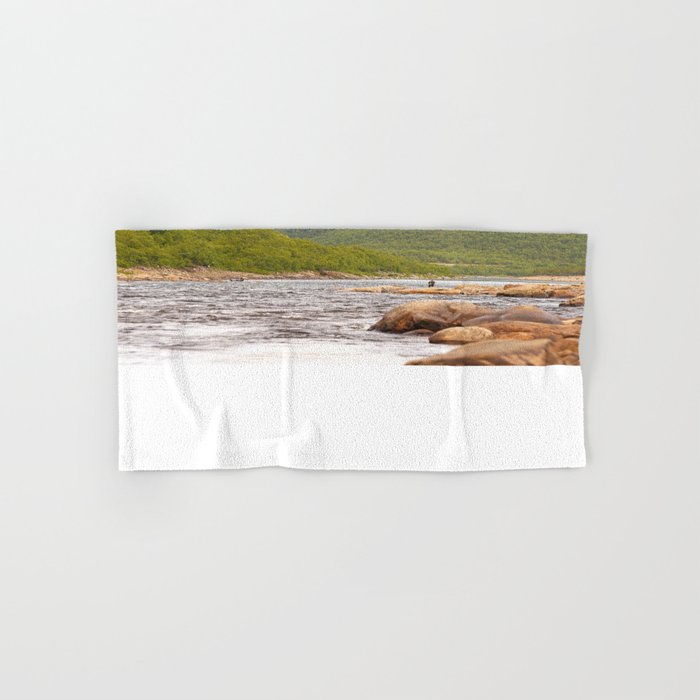 Fly-fishing On The River  Hand & Bath Towel
