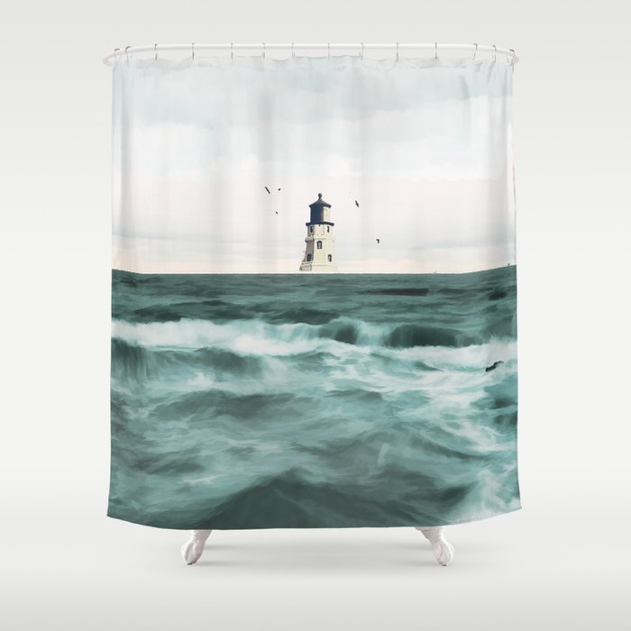 Lighthouse Shower Curtain By Draw4you