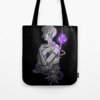 asexual Tote Bags featuring Ace of Clubs by Kieran Thompson