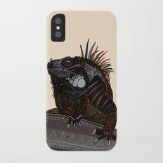 iguana ecru iPhone X Slim Case