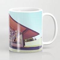 mid century Mugs featuring Mid-Century Americana by Vorona Photography