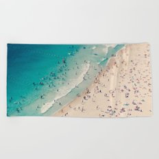 beach love V Beach Towel