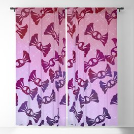 Pastel Goth Candy Skull Pattern Blackout Curtain