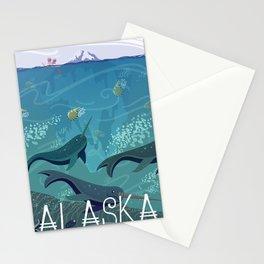 Alaska State Poster Stationery Cards