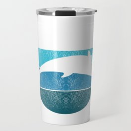 Whales Save The Whales Vintage Whale Watching Ocean Snorkeling Adventure Sea Life Fish Dolphin Travel Mug