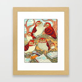 Burrowing Owl Family Framed Art Print
