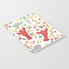 Seafood Spread with Flowers Notebook