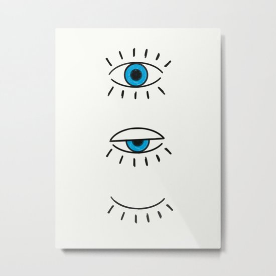 Summer Evil Eyes Metal Print
