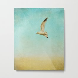 Out To Sea - Seagull Ocean Art Metal Print