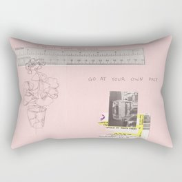 your own pace Rectangular Pillow