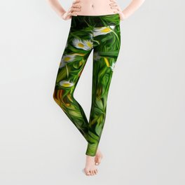 Upside Down Daisies Leggings