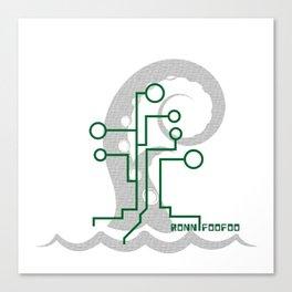 Data Kraken Canvas Print