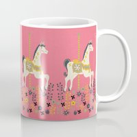 carousel Mugs featuring Carousel by Prelude Posters