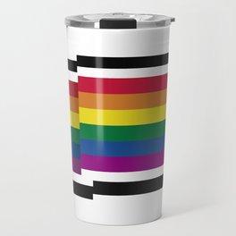LGBT PRIDE FLAG 8BIT Travel Mug