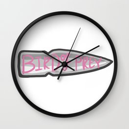 Bird of prey Bullet Wall Clock