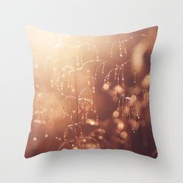 wake up in the garden Throw Pillow
