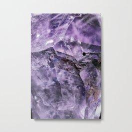 Amethyst Crystal Metal Print