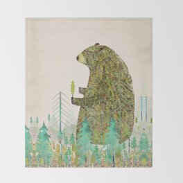 the forest keeper Throw Blanket