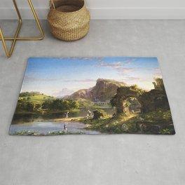 L'Allegro Italian Pastoral Landscape by Thomas Cole Rug