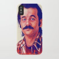 bill murray iPhone & iPod Cases featuring Young Mr. Bill Murray by Thubakabra
